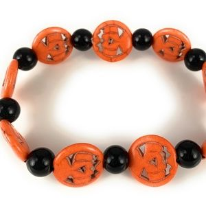Pumpkin bracelet Orange Black halloween jackolante
